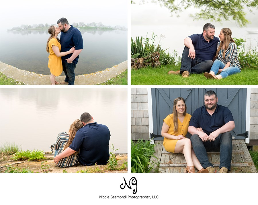 foggy engagement photos in Matunick