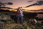 Gorgeous Sunset Engagement Session in Watch Hill, RI