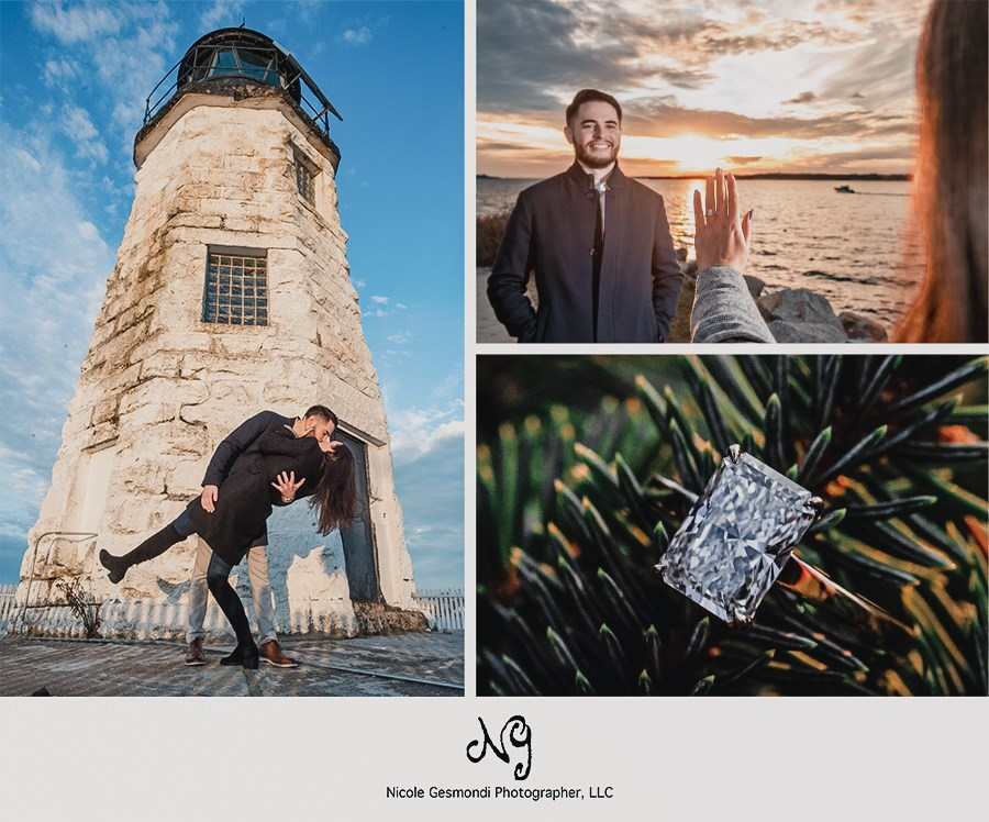 sunset proposal photos Newport Bridge ri